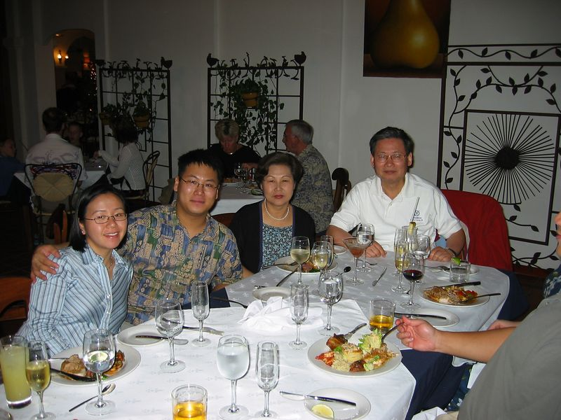 Chayong, Solomon (Chris's brother), Sandy and Peter.