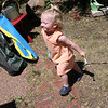 Jordyn running with her balloon