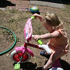 Jordyns tries out the new tricycle from Grandma
