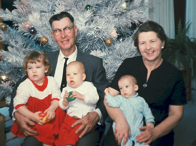 1965 Christmas with Len & Olive