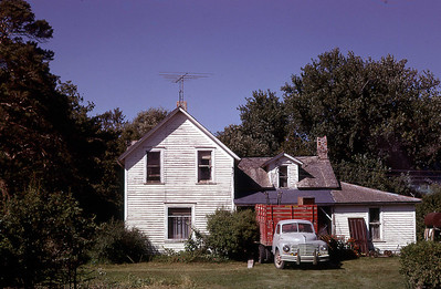 The original farmhouse was partially razed and moved to make way for a new one in 1967.