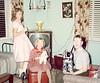Xmas 1960 - Nancy, Cindy and Carolyn