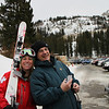 Vivian and Duncan at Brighton Resort, where Viv is working as a Ski Patroller.<br /> 11/27/09