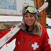 Vivian at Brighton Resort, where Viv is working as a Ski Patroller.<br /> 11/27/09