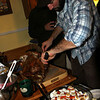 Carving the turkey at Vivian's.<br /> 11//27/09