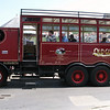 """this """"bus"""" is steam powered driven by coal it was probably built in the 1920's"""