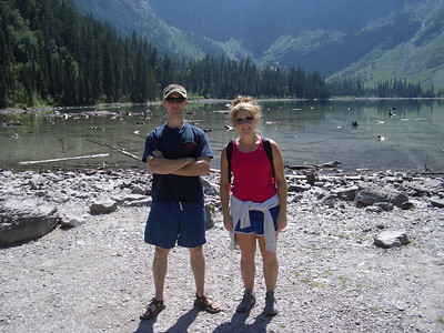 Kyle and Claire, Avalanche Lake, Glacier National Park.