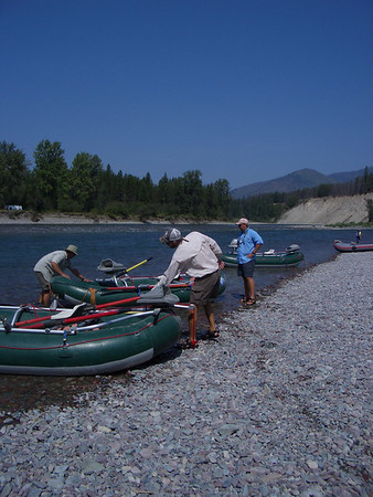 Our float fishing guides, Tom, Mike, and ???.