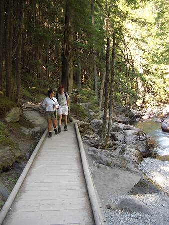 Hiking the avalanche trail, Glacier National Park.