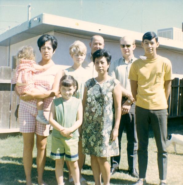 L to R Julie back  w/Susan;  Terry, Jackie ; Paul Davis Sr.;  Gwen; David Whiteley;  Mark Davis;      Family 1-1967