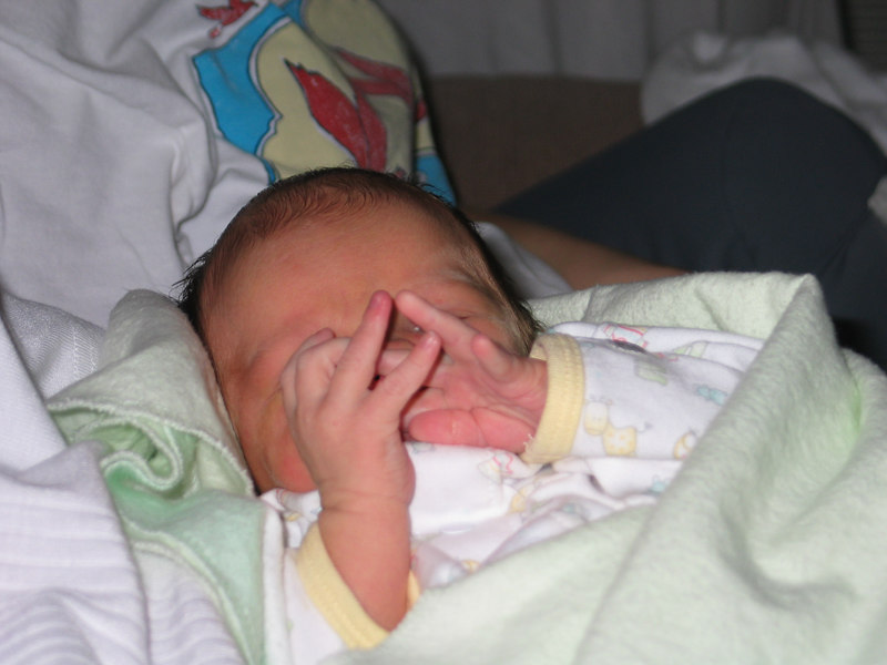 Carson Tyler Whitmore, born July 12, 2006...weight 7lbs. 10 1/2 oz and 21 inches long.