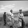 Joseph John Bergschneider, Evelyn Parkhouse (Bergschneider) and Addie M. Bergschneider (Davis) at the Mt Whitney Trout Hatchery in 1945. John and Addie were Evelyn's parents.