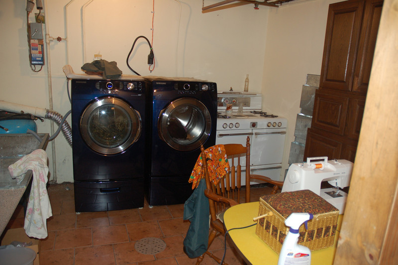 Laundry/sewing room, and the oven even works