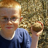 Seth with his mud ball.
