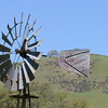 A closer look at the windmill that was powering a water pump for the well.