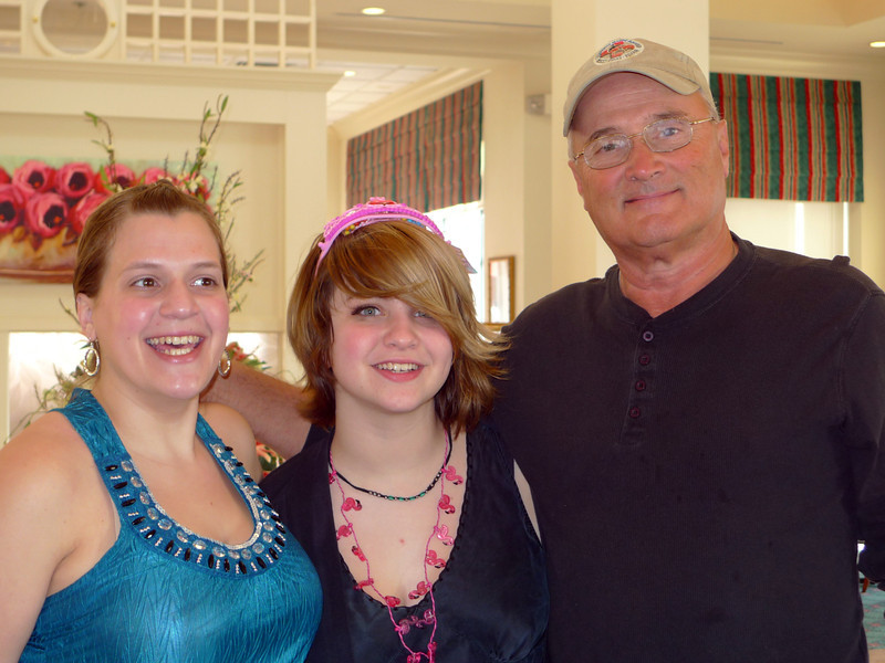 Katie, Haley and a young retired guy called Henry.