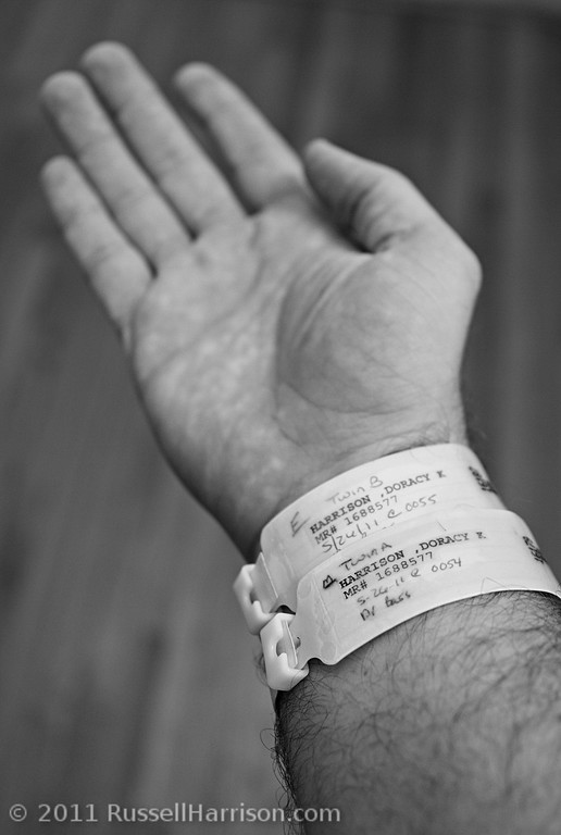 These bracelets are what told the hospital staff that the twins belonged to me.  I kind of liked the physical evidence they were mine and didn't take these off for almost a week after they were born even after we got home with them.