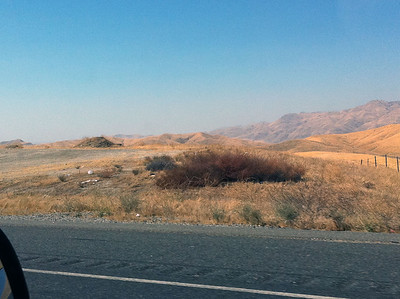 It was quite the scenic route from Vegas - the mountains seemed to go a long ways back