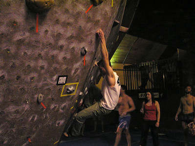 Will in Climbing Comp at Gym, February 22, 2008