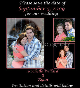 Rochelle & Ryan save the date copy