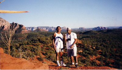 Took pops for a little hike in sedona