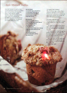 Everyone's favourite Julie's Apple Rhubarb muffins