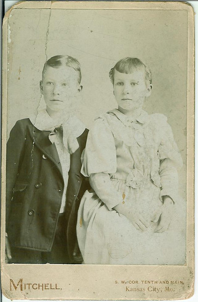 Fred Wilson and his sister Grace