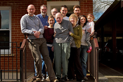 Family group - from left - Me, Gordon, Kate. Robin, Dad, Michael, Marcia, Andrew, Vic, Evie
