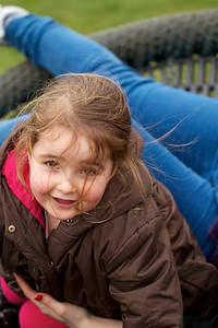 Evie in the playground