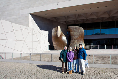 Outside the museum.