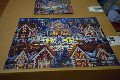 Jeef, Anisa and Linda spent hours working on this jigsaw puzzle.  I think Tanya was part of the act too.