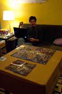 Jeff admiring the puzzle.