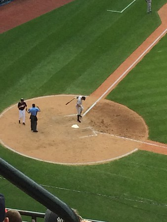 Alex Rodriguez digging in at the plate