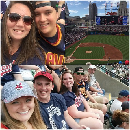 Cleveland Indians vs. New York Yankees with Harley, Cindy, Austin, JaiLeigh, Quincy, and Chelsea