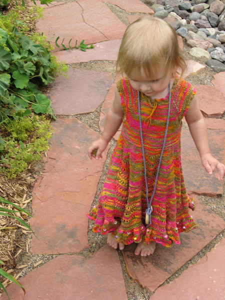 20.July.2010:  mama-made dress, papa's slate sidewalk