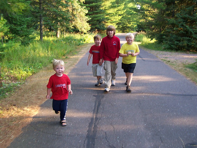 <b> Aug. '07: Family Camping at Madeline Island, WI - DAYS 1 & 2</b>