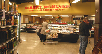 Meat counter.