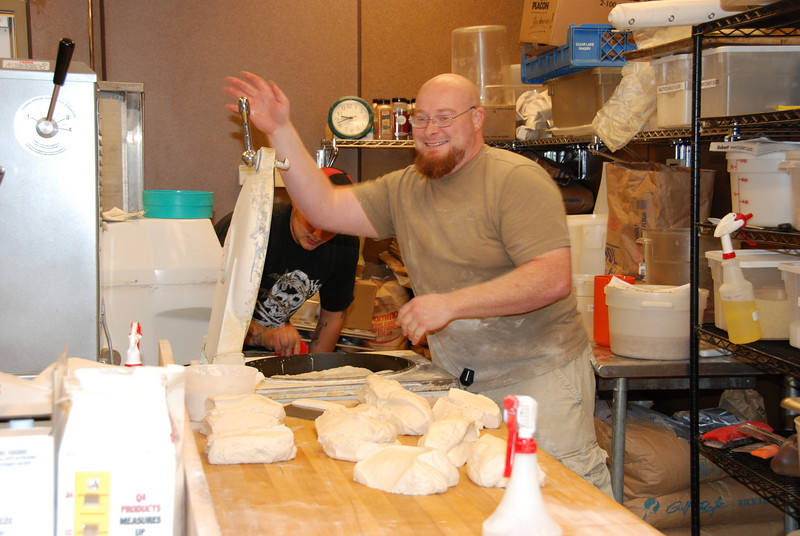 Dave Scott bakes up some sourdough.