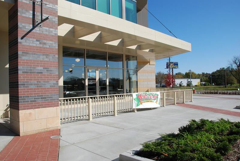 The cafe area.