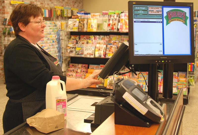 Rosanne Schwartz at the front registers.