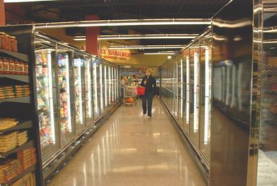 Frozen foods aisle.