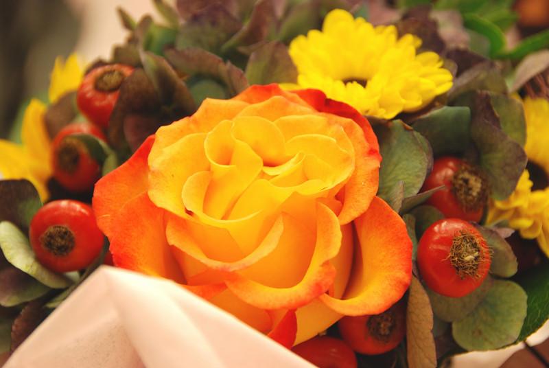 Flower arrangement by Blooms.