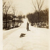 There are 2 pictures of Prospect Ave.   People used to sleigh ride there because Highland Ave was much too steep <br />      Edith Barkerding, ne Karsch, is the lady in the one picture.