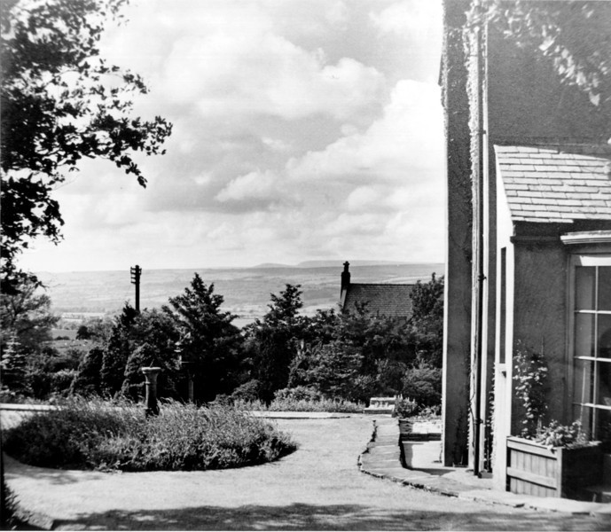 Woodcroft as White Lodge 1950s from rear where conservatory is now