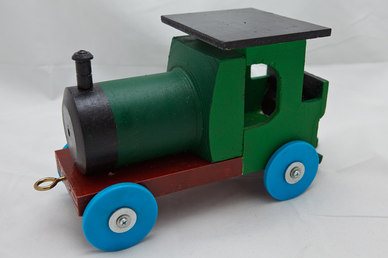 Wood Model Train made by Great Pa for Hamish and Jasper. Photographed on 28 September 2011 by Des Thureson:  http://disci.smugmug.com.