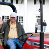 Farmer Billy putts around the estate.