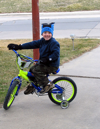 Wyatt's New Bike!! (2006)