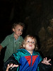 X & Z inside Lost River Caverns-- oooh, scary!!
