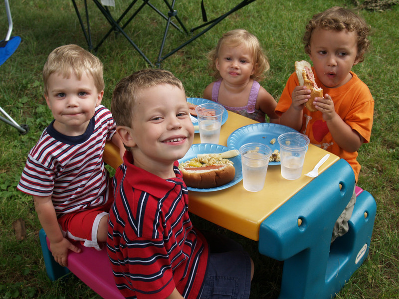 4 cousins-- 4th of July picnic