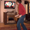 "Alison, bogeying downstairs to Wii's ""Just Dancing."""